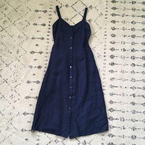 Lucky brand navy blue midi dress